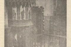 Ambona z 4 ewangelistami z wyposażenia starego kościoła