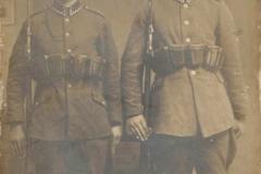 Józef Kucharczyk z kolegą z wojska