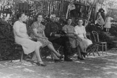 Przytkowice, uroczystość rozpoczęcia nauczania, wiosna 1945 r.