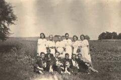 Drużbowie i ślub ok 1950 r.