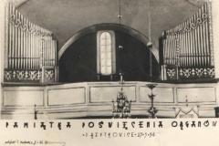 Pamiątka poświęcenia organów 1956 r.