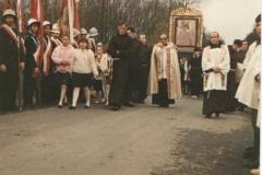 Procesja z obrazem Matki Bożej Kalwaryjskiej 3 V 1991 r.